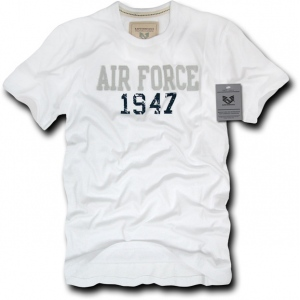Rapid Dominance R52 Applique Military T-Shirts: White , Air Force