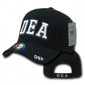Rapid Dominance JW Embroidered Delux Law Enforcement Caps: Black, DEA