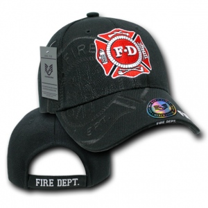 Rapid Dominance JW7 Shadow Law Enforcement Caps: Black, Fire Department