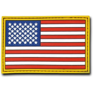 "Rapid Dominance T90 Tactical Rubber Patches: Original, USA, 3"" x 2"""