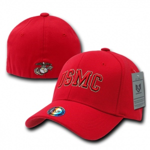 Rapid Dominance R82 Military/Law Flex Baseball Caps: Red, Marines