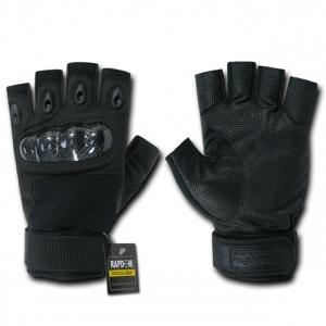 Rapid Dominance T42 Half Finger Hard Knuckle Glove: Black